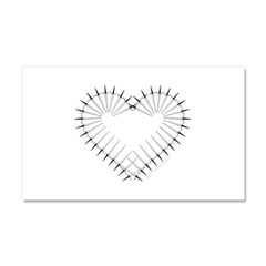 Heart of Daggers Car Magnet 20 x 12