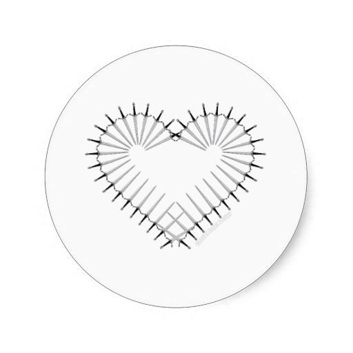 Heart of Daggers Classic Round Sticker