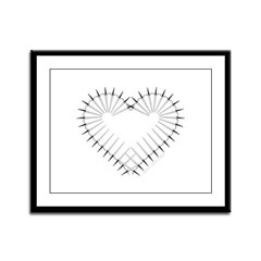 Heart of Daggers Framed Panel Print