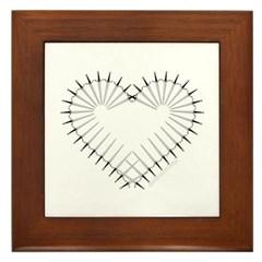 Heart of Daggers Framed Tile