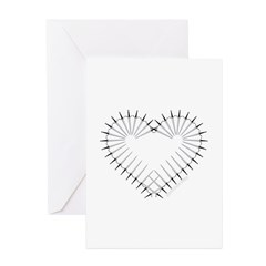 Heart of Daggers Greeting Cards (Pk of 10)