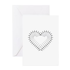 Heart of Daggers Greeting Cards (Pk of 20)