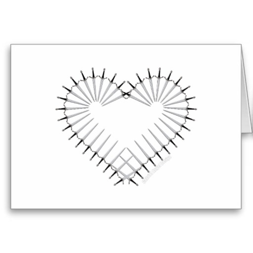 Heart of Daggers Greeting Card