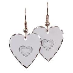 Heart of Daggers Heart Earrings
