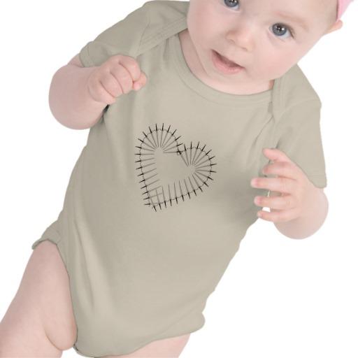 Heart of Daggers Infant American Apparel Organic Creeper