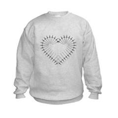 Heart of Daggers Kids Crewneck Sweatshirt by Hanes