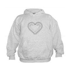 Heart of Daggers Kids Sweatshirt by Hanes