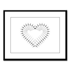 Heart of Daggers Large Framed Print