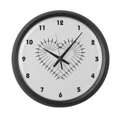 Heart of Daggers Large Wall Clock