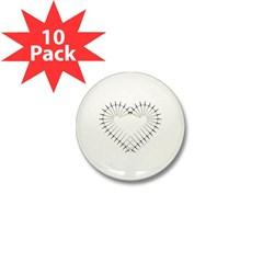 Heart of Daggers Mini Button (10 pack)