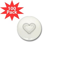 Heart of Daggers Mini Button (100 pack)