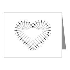 Heart of Daggers Note Cards (Pk of 10)