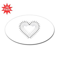 Heart of Daggers Oval Decal 10 Pack