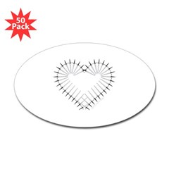 Heart of Daggers Oval Decal 50 Pack