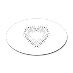 Heart of Daggers Oval Decal