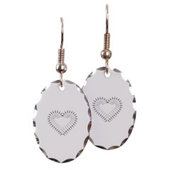 Heart of Daggers Oval Earrings
