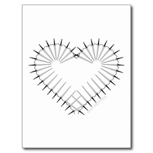 Heart of Daggers Postcard