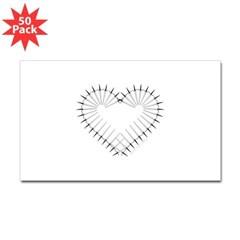 Heart of Daggers Rectangle Decal 50 Pack