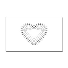 Heart of Daggers Rectangle Decal