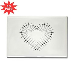 Heart of Daggers Rectangle Magnet (10 pack)