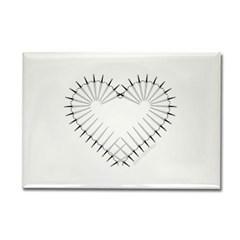 Heart of Daggers Rectangle Magnet