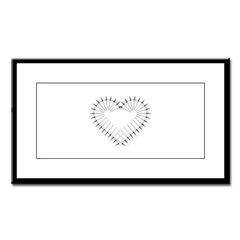 Heart of Daggers Small Framed Print