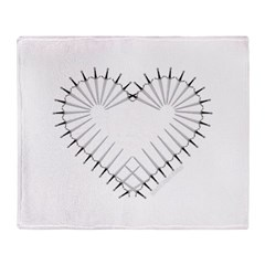 Heart of Daggers Throw Blanket