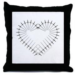 Heart of Daggers Throw Pillow