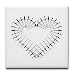 Heart of Daggers Tile Coaster