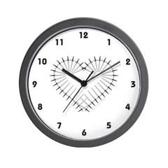 Heart of Daggers Wall Clock