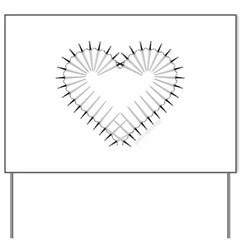 Heart of Daggers Yard Sign