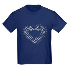 Heart of Daggers Youth Dark T-Shirt by Hanes