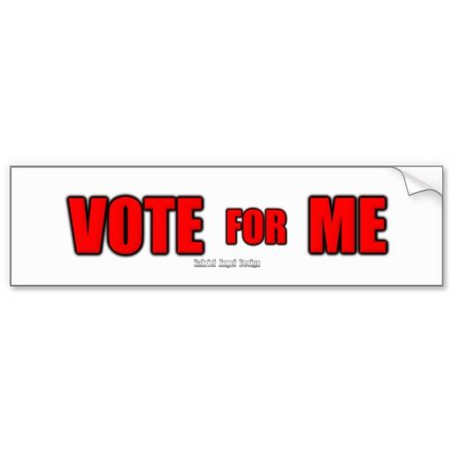 Vote for Me Bumper Sticker