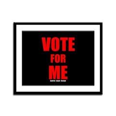 Vote for Me Framed Panel Print