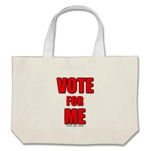 Vote for Me Jumbo Tote