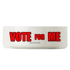 Vote for Me Large Pet Bowl