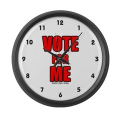 Vote for Me Large Wall Clock