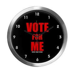 Vote for Me Modern Wall Clock