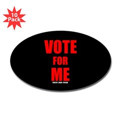 Vote for Me Oval Decal 10 Pack