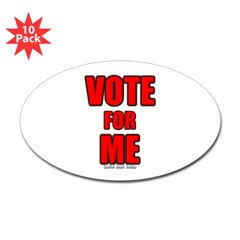 Vote for Me Oval Decal 10 pk