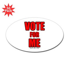 Vote for Me Oval Decal 50 pk