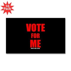 Vote for Me Rectangle Decal 10 Pack