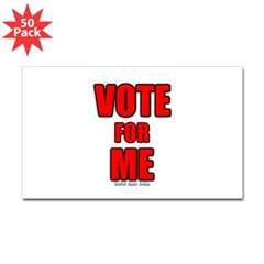 Vote for Me Rectangle Decal 50 pk