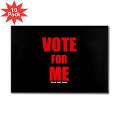 Vote for Me Rectangle Magnet (10 pack)