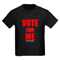 Vote for Me Youth Dark T-Shirt by Hanes