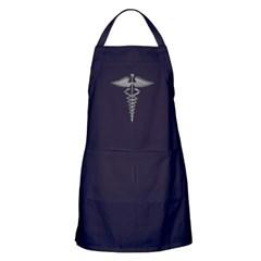 Silver Medical Symbol Apron (dark)