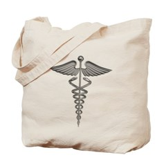 Silver Medical Symbol Canvas Tote Bag