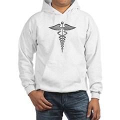 Silver Medical Symbol Hooded Sweatshirt
