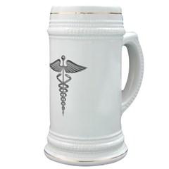 Silver Medical Symbol Stein
