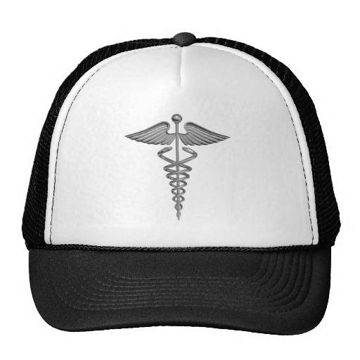 Silver Medical Symbol Trucker Hat